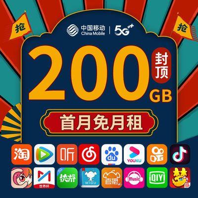 流量卡无限流量卡不限速5g网卡大王卡手机卡电话卡免费花卡纯上网