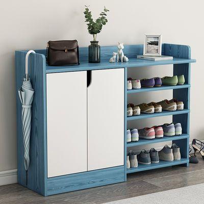 简易鞋柜 家用 门口鞋柜子多层木质鞋架鞋柜木门厅柜多功能储物柜