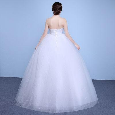 红色婚纱礼服新娘齐地孕妇婚纱2020新款高腰韩版韩式婚纱裙新娘【2月28日发完】
