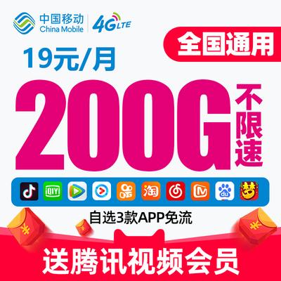 流量卡无限流量手机卡电话卡不限速4g上网卡大王卡送话费免费试用