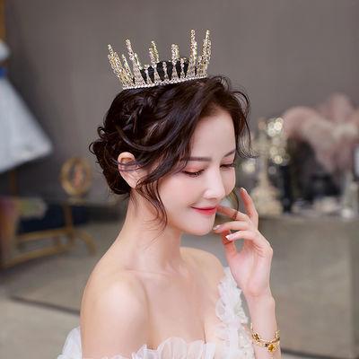 新款超仙闪耀新娘结婚纱旅拍礼服皇冠发饰公主圆冠头饰配饰女1253