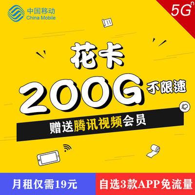 流量卡无限流量0月租4g上网卡不限速手机卡电话卡免费大王卡花卡