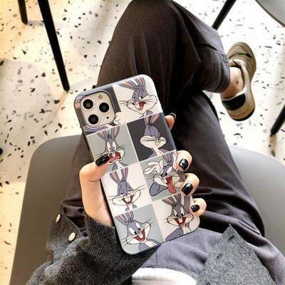 潮牌卡通兔子8plus苹果x手机壳iphone11pro软xsmax新款xr女7p套