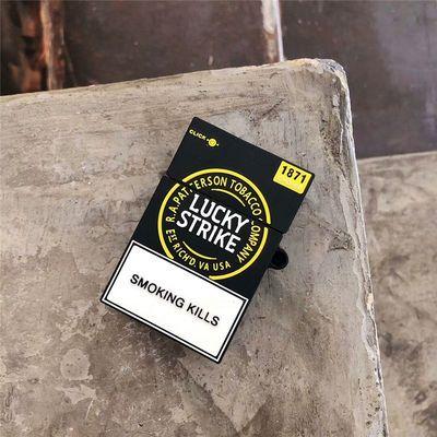 幸运Lucky香烟盒立体苹果AirPods1/2代无线蓝牙耳机硅胶保护套软【3月1日发完】