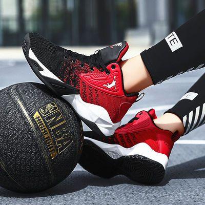 2020年春季新款篮球鞋男高帮耐磨运动鞋情侣球鞋学生网面透气战靴