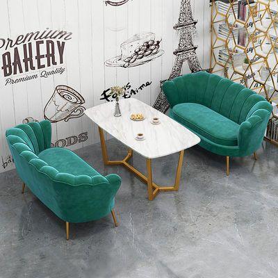 轻奢单人沙发现代简约服装店双人布艺沙发北欧网红款三人位沙发椅
