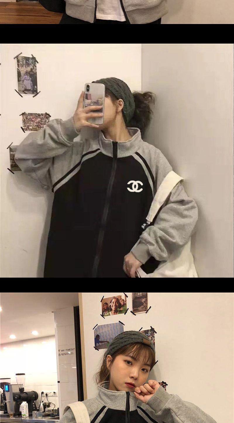 秋冬季新款ins韩版加绒加厚棒球服外套女宽松学生原宿夹克上衣潮