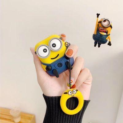 卡通小黄人airpods保护套可爱动漫苹果airpods2耳机套硅胶软盒子【3月1日发完】
