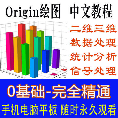 origin绘图数据分析软件中英文版Origin2018软件安装教程视频学习