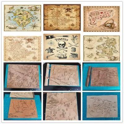 羊皮地图藏宝图真皮复古战国线路地图影视道具儿童礼品