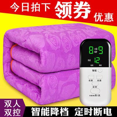 超柔富贵绒电热毯双人双控调温定时加大加厚2米1.8安全防水电