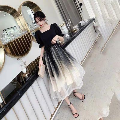 礼服女短款宴会年会聚会派对学生成人礼韩版显瘦气质仙女裙小个子