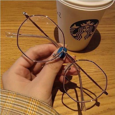 韩版学生潮流多边形近视眼镜框网红同款女有度数眼镜无度数平光镜