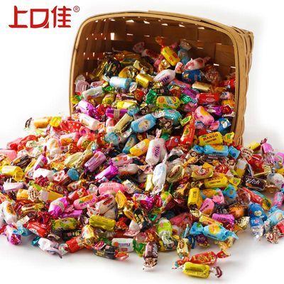 【奶糖批发】上口佳夹心牛奶糖喜糖软糖年货大礼包散装糖果1-5斤