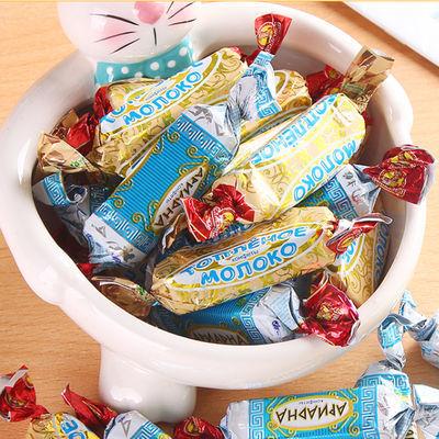 俄罗斯斯拉夫威化饼干年货节糖果休闲零食送女友礼盒糖果【熊】