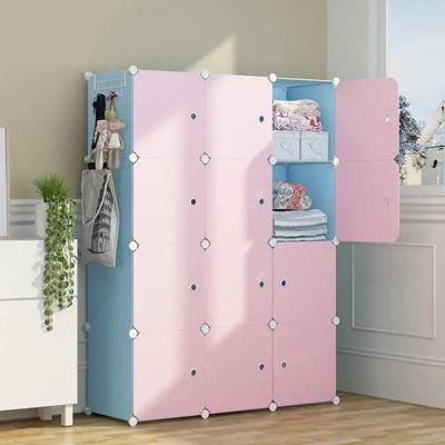 儿童衣柜简易宝宝收纳箱塑料布组装柜子婴儿储物柜宿舍必备收纳盒
