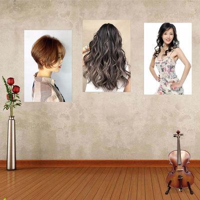 时尚发型美发店装饰挂画理发店壁画发廊发型造型图片海报墙壁贴画