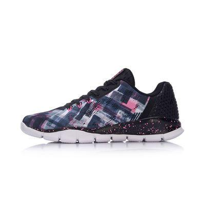 李宁灵动跑鞋女鞋跑步系列舒适潮流拼色舒适运动鞋子ARKM026-5