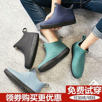 雨鞋男工作鞋防水防滑软底劳保鞋厨房钓鱼工地短筒低帮潮流雨靴