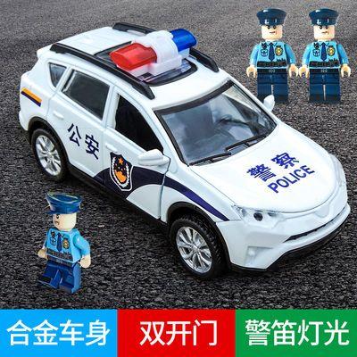回力玩具车警车合金车模型男孩宝宝迷你小汽车警察车儿童仿真宝马