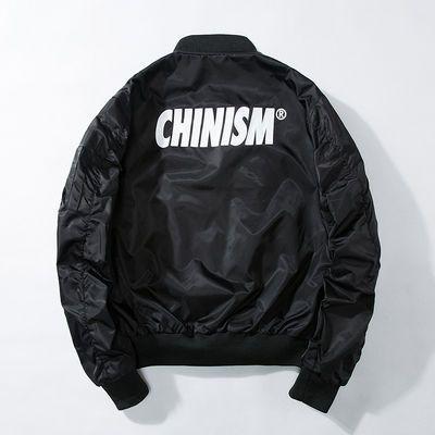 CHINISM嘻哈风棒球服男女学生宽松潮牌冬加棉厚外套ma1飞行员夹克