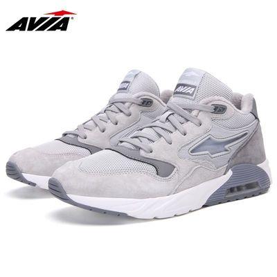 AVIA爱威亚跑步鞋冬季保暖男鞋休闲运动鞋网面旅游潮流减震气垫鞋