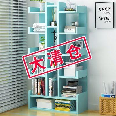 简易书架书柜落地置物架家用学生简约现代书橱客厅创意小组合柜