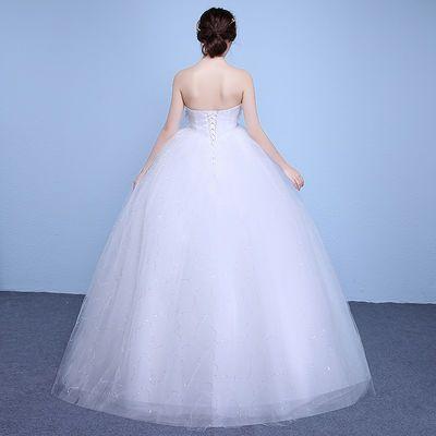 红色婚纱礼服新娘齐地孕妇婚纱2020新款高腰韩版韩式婚纱裙新娘【3月1日发完】