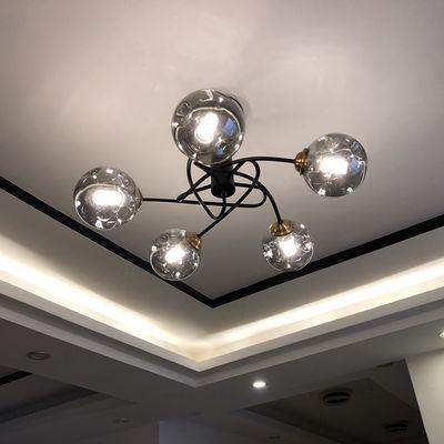卧室灯网红ins少女创意餐厅灯饰简约现代房间北欧主卧室吸顶灯具