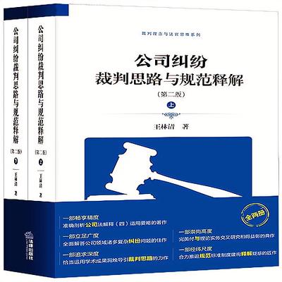 公司纠纷裁判思路与规范释解(第二版 上下册) 王林清