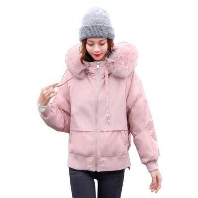 羽绒棉服女短款2019冬季新款小棉袄韩版宽松印花甜美小个子棉衣潮