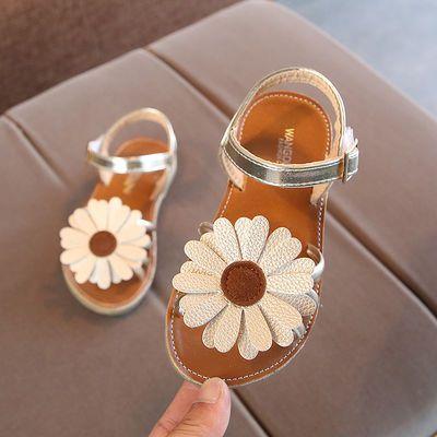 女童凉鞋2020新款夏季时尚太阳花公主鞋中大童儿童小学生凉鞋女孩