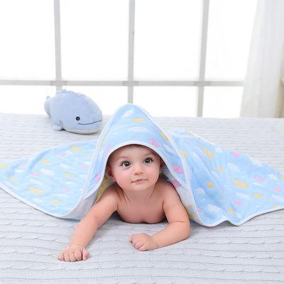 新生婴儿抱被初生宝宝包巾新生儿襁褓被全棉包布柔软纯棉六层纱布