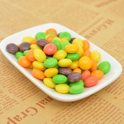 礼盒小豆水果果儿节礼袋装喜糖彩虹糖口味混合儿童整箱果味创意