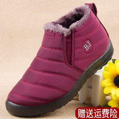 雪地靴女冬季保暖加绒中老年人二棉鞋妈妈短靴平底奶奶鞋女士冬鞋