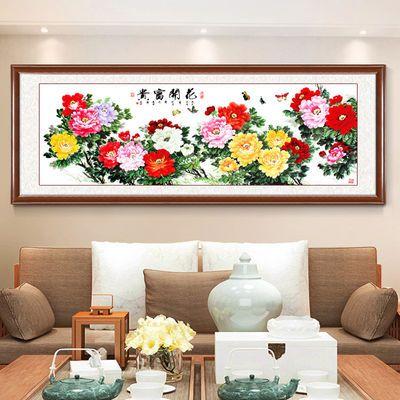 花开富贵牡丹图挂画中式客厅装饰画沙发背景墙卧室床头有框画国画