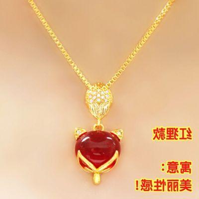 KC新年貔貅 新款项链  项链女 送戒指手链转运珠吊坠镀金饰品首饰