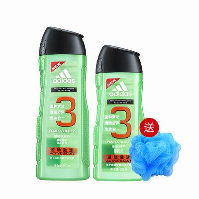 【极速发货】阿迪达斯洗发沐浴露二合一运动持久留香400ml/250ml