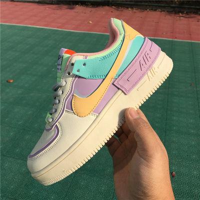 马卡龙糖果高低帮韩版百搭学生女士休闲时尚板鞋