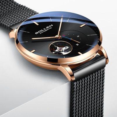 正品名牌男士手表机械表防水超薄精钢男表全自动时尚潮流2020新款