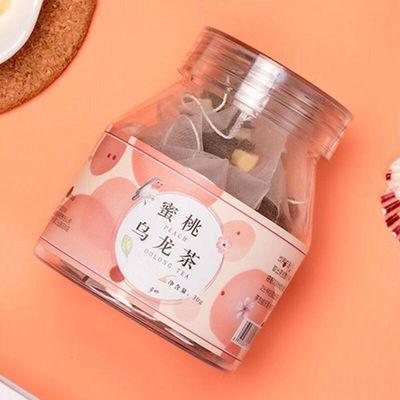 【买一送樱花勺】蜜桃乌龙茶10包/瓶水果茶组合花果茶袋泡果粒茶