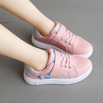 女童真皮小白鞋2020春季新款韩版儿童鞋中大童软底皮面女孩休闲鞋
