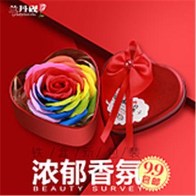 铁盒香皂花玫瑰创意礼品公司活动婚庆回礼品赠品情人节厂家直销