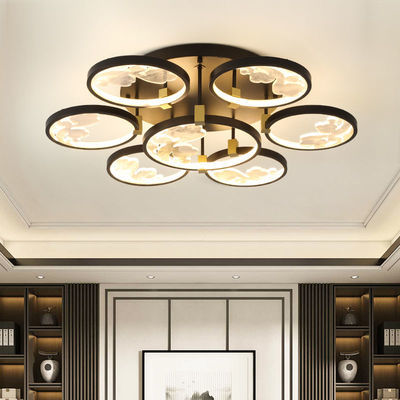 新中式客厅灯主卧室吸顶灯圆形现代个性简约led餐厅书房古典灯具