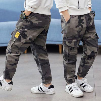 童装男童春秋款迷彩裤子2020薄款儿童束脚口宽松版工装运动裤韩版