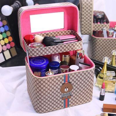韩版化妆包大容量新款可爱便携化妆箱大小号学生网红化妆品收纳盒