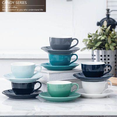 欧式简约陶瓷加厚卡布奇诺杯标准比赛拉花单品拿铁咖啡杯碟150ml