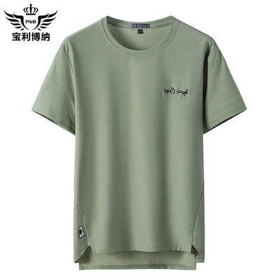 宝利博纳夏季男装短袖男2020新款t恤潮时尚修身半截袖衣服