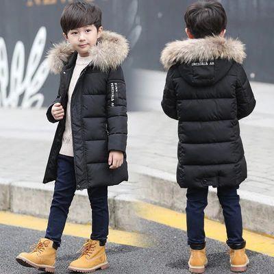 男童棉服2018新款冬装棉衣中长款中大儿童男孩冬季加厚外套棉袄潮