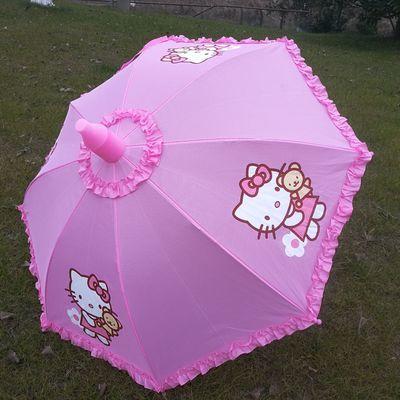 儿童雨伞男女童小学生自动晴雨伞幼儿园公主伞宝宝两用防水套KT伞